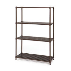 Seville Classics 4-Tier Metal Shelving Rack