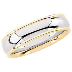 14K Two-Tone 6mm Comfort Fit Band