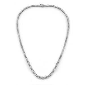10 CT. T.W. Round-cut Diamond Necklace in 18K White Gold (H-I, SI2)