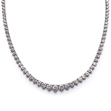 7 CT. T.W. Round-cut Diamond Necklace in 18K White Gold (H-I, SI2)