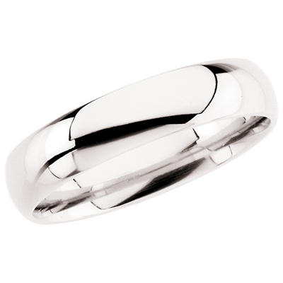 14K White Gold 5mm Comfort Fit Band