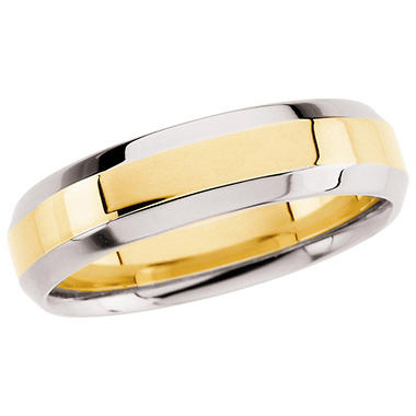 14K Two-Tone Gold 6.0mm Comfort Fit Band