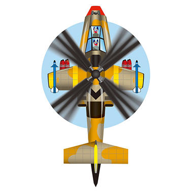 Attack Helicopter Kite