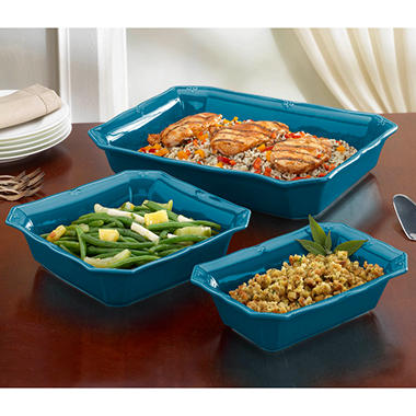 Chateau 3 pc. Bakeware Set - Peacock Blue