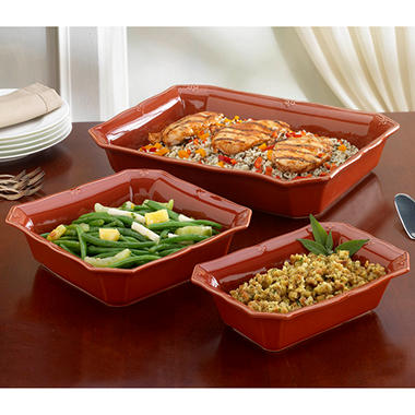 Chateau 3 pc. Bakeware Set - Paprika