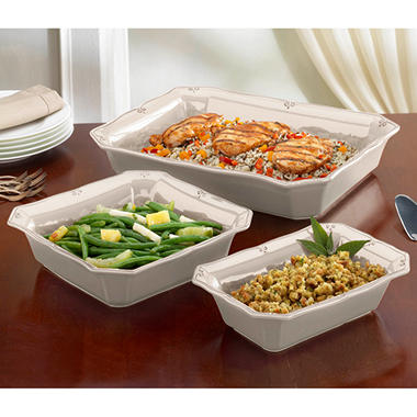 Chateau 3 pc. Bakeware Set - Winter White