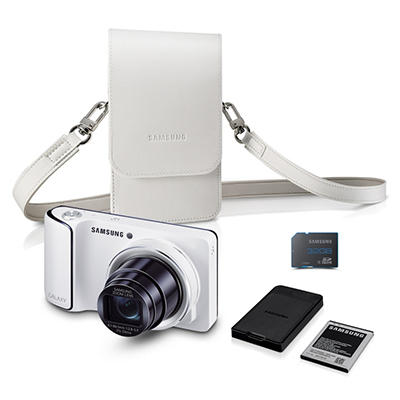 Samsung Galaxy Wi-Fi Camera Bundle with 21x Optical Zoom, Camera Case, Charger, and 32GB MicroSD card