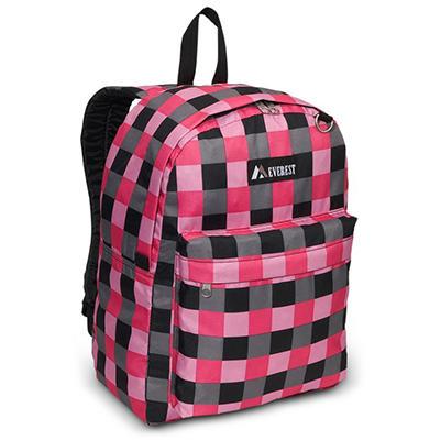 "16.5"" Backpack Pink Plaid Case - 30 pk."