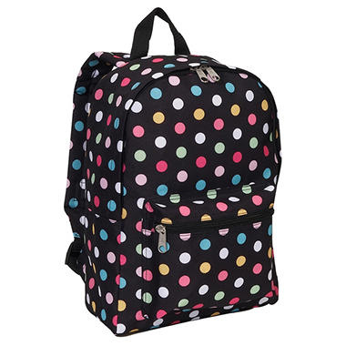 "16.5"" Backpack Polka Dots Case - 30 pk."