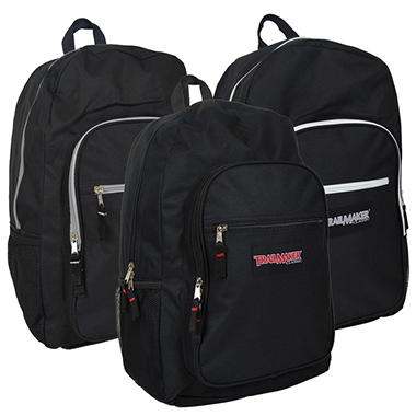 "Trailmaker 19"" Backpacks - Black - 24 Pack"