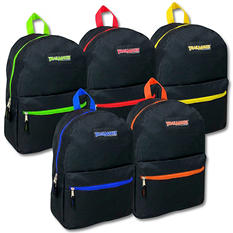"Trailmaker 17"" Backpacks - Black - 24 Pack"