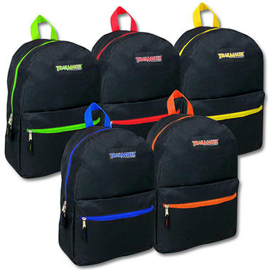 "17"" Backpack Black Case - 24 pk."