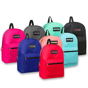 "Trailmaker 17"" Backpack, Assorted Colors, 24pk. Case"