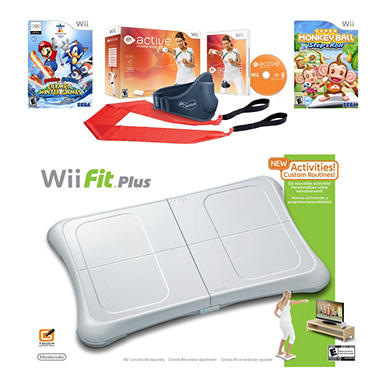Wii Fit Plus with Balance Board and Game