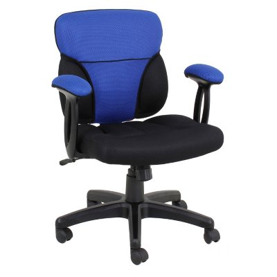 Cool Task Chair with Reversible Blue & Red Cover