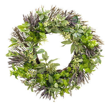 "26"" Spring Wreath - Herbal"