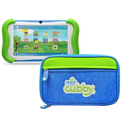 "7"" Sprout Channel Cubby Kid-Friendly Tablet - 16GB w/ Sleeve"