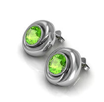Peridot Whisper Earrings in Sterling Silver
