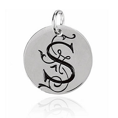 Posh Mommy? Sterling Silver Personalized Large Disc
