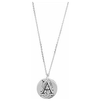 Posh Mommy™ Sterling Silver Personalized Large Disc Pendant