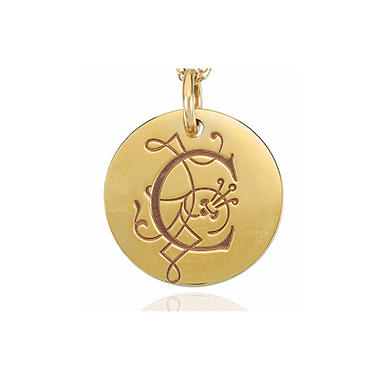 Posh Mommy™ 14K Yellow Gold Personalized Large Disc
