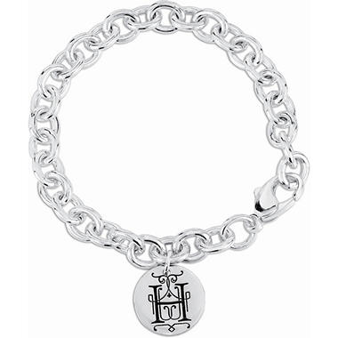 Posh Mommy? Sterling Silver Personalized Disc Bracelet