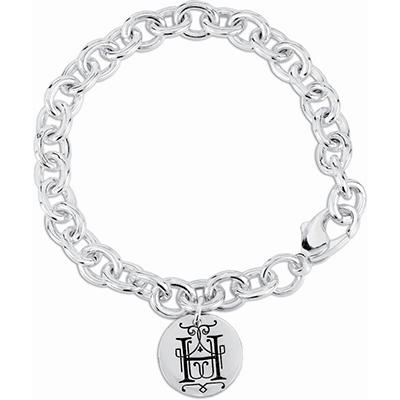 Posh Mommy™ Sterling Silver Personalized Disc Bracelet