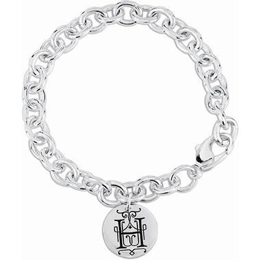 Posh Mommy™ Sterling Silver Personalized Disc Bracelet