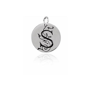 Posh Mommy™ Sterling Silver Personalized Large Disc