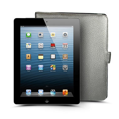 Apple iPad with Retina Display 128GB Black with 4G w/ Leather Case - AT&T, Verizon, and Sprint