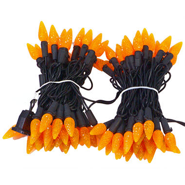 Halloween LED Lights - 80 ct. Orange