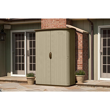 suncast large 52 cu ft vertical storage shed by suncast item 267373