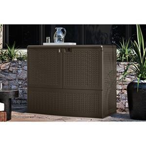 Suncast 195-Gallon Backyard Oasis Storage and Entertaining Station