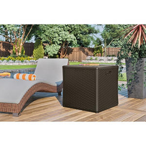 Suncast 60-Gallon Wicker Storage Cube