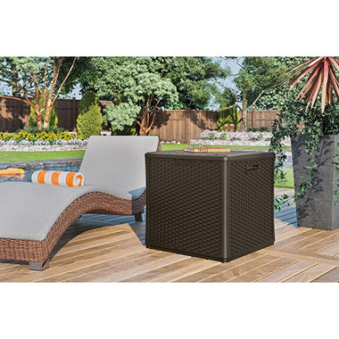 suncast 60 gallon wicker storage cube by suncast item 267426 model