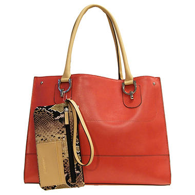 London Fog Harris Tote - Papaya