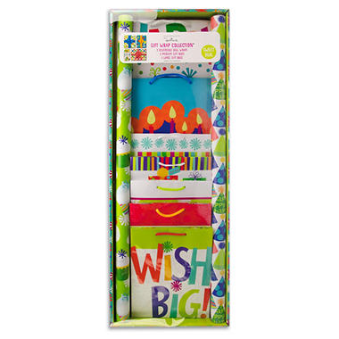 Expressions from Hallmark Gift Wrap Assortment - Birthday