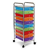 Seville Classics 10 Drawer Cart (Mulitple Colors Available)