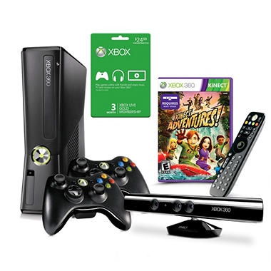 Xbox 360 4GB Kinect Console with Essentials Kit