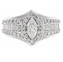 Click here for 2.0 ct. t.w. Diamond Bridal Ring in 14KW 7 prices