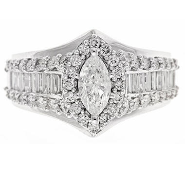 2.0 ct. t.w. Diamond Bridal Ring in 14K White Gold (H-I, I1)