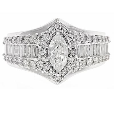 2.0 ct. t.w. Diamond Bridal Ring in 14K White Gold (H-I, I1)
