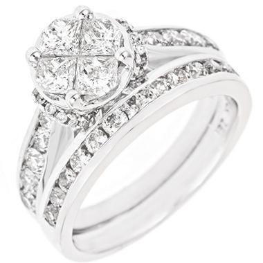 2.00 ct. t.w. Seri Diamond Ring Set in 14K White Gold (H-I, I1)