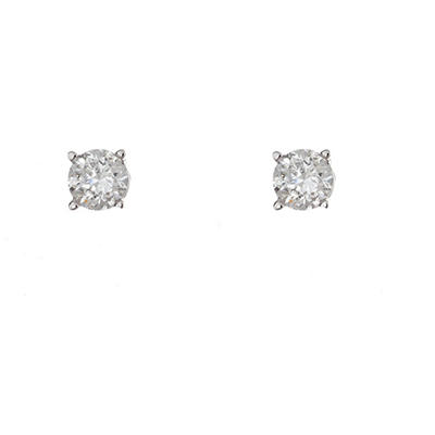 0.23 CT. T.W. Round Diamond Studs in 14K White Gold (I, SI2)