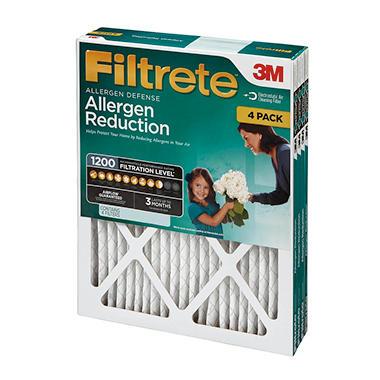 Filtrete Allergen Reduction Filter 4-Pack - Various Sizes