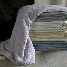 Diamond Weave Soft Cotton Blanket - Various Sizes and Colors