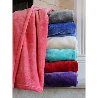 Ultra Soft Plush Throw - Various Colors