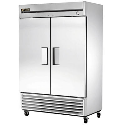 True 2-Door Stainless Steel Reach-In Refrigerator - 49 cu. ft.