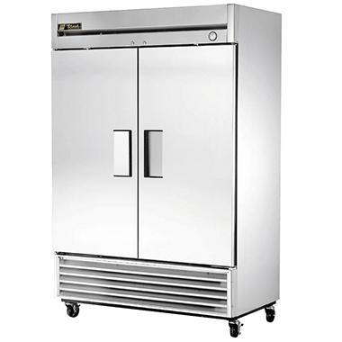 True Foodservice 2-Door Stainless Steel Reach-In Freezer - 49 cu. ft.