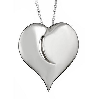 """Light in My Heart"" Sterling Silver Large Pendant"